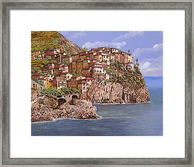 Manarola   Framed Print by Guido Borelli
