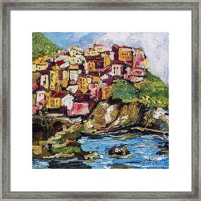 Manarola Italy Cinque Terre Framed Print