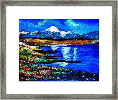 Manas Sarovr Lake-18 Framed Print