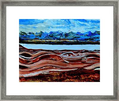 Manas Sarovr Lake-19 Framed Print by Anand Swaroop Manchiraju