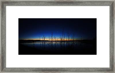 Manasquan Reservoir At Dawn Framed Print