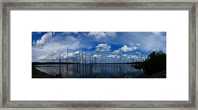 Manasquan Reservoir Panorama Framed Print by Raymond Salani III