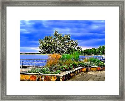 Manasquan Reservoir Scene Framed Print
