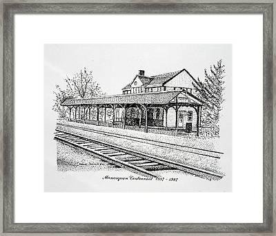 Manasquan Train Station Framed Print