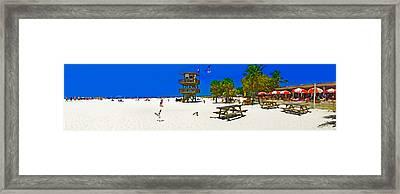 Manatee Beach Cafe Framed Print