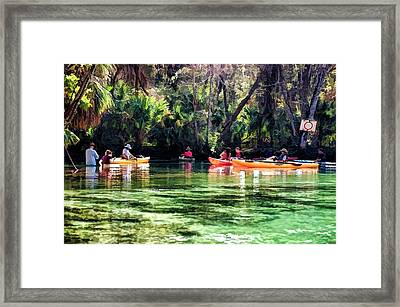 Manatee Lookout Framed Print by Pamela Blizzard