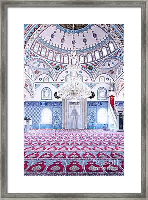Manavgat Mosque Interior 01 Framed Print by Antony McAulay