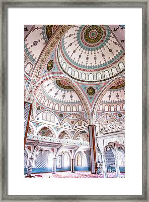 Manavgat Mosque Interior 02 Framed Print by Antony McAulay