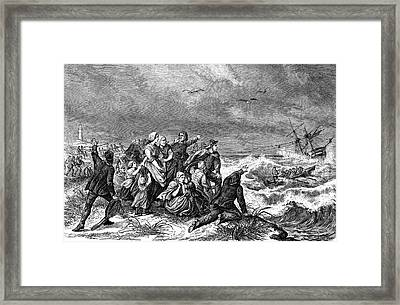 Manby Mortar Wreck Rescue Framed Print