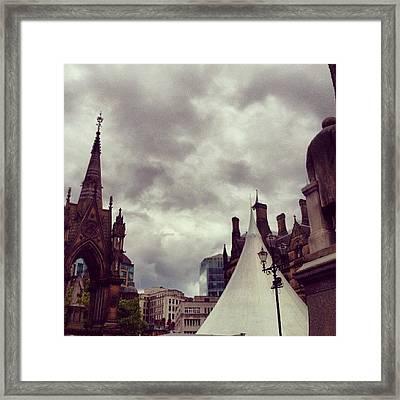 #manchester #cloudporn #clouds Framed Print