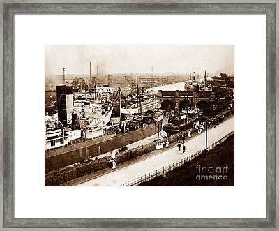 Manchester Ship Canal Latchford Locks England Framed Print by The Keasbury-Gordon Photograph Archive