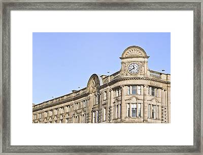 Manchester Station Framed Print by Tom Gowanlock