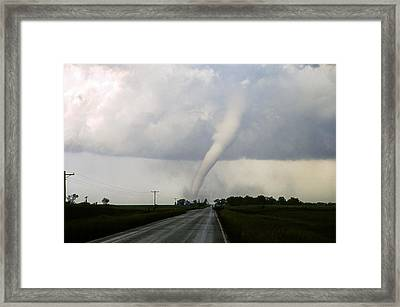 Framed Print featuring the photograph Manchester Tornado 6 Of 6 by Jason Politte