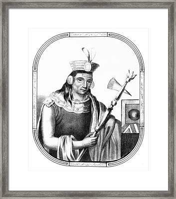 Manco C�pac, Founder Of Inca Framed Print