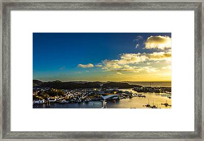Mandal Norway Framed Print by Ben Foster