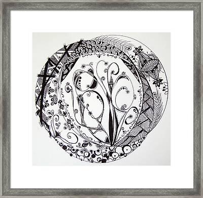 Mandala #1 Framed Print by Lori Thompson