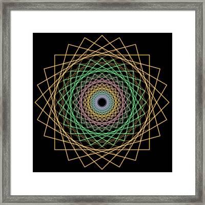 Mandala 1 Framed Print by Santiago Tomas Gutiez