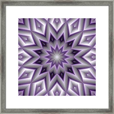 Mandala 107 Violet Framed Print by Terry Reynoldson