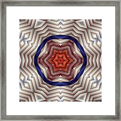 Mandala 12 Framed Print by Terry Reynoldson