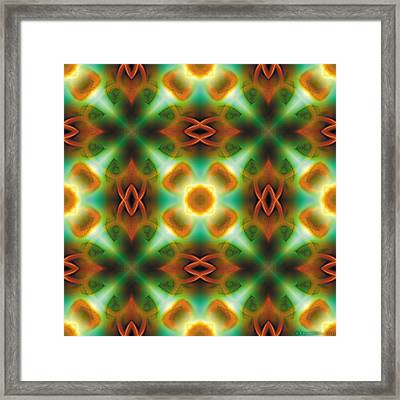 Mandala 134 Framed Print by Terry Reynoldson