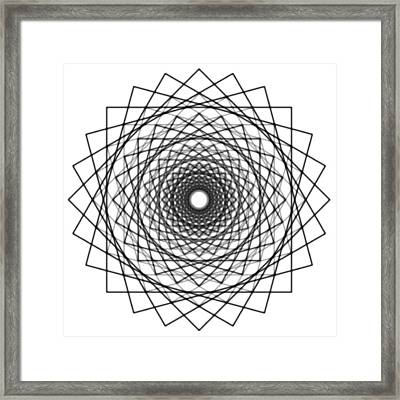 Mandala 4 Framed Print by Santiago Tomas Gutiez
