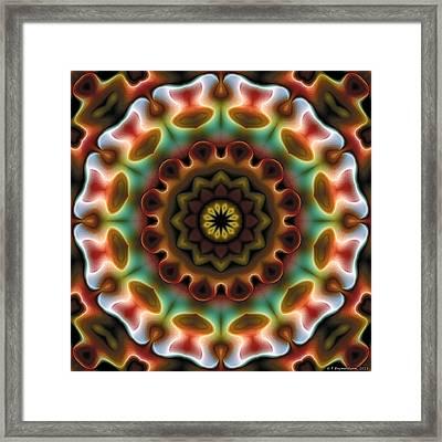 Mandala 74 Framed Print by Terry Reynoldson