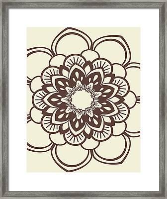 Mandala 9 Framed Print by Tamara Robinson