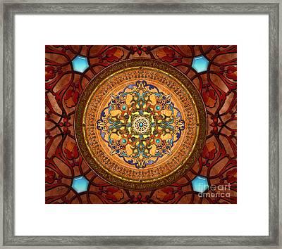 Mandala Arabia Sp Framed Print by Bedros Awak