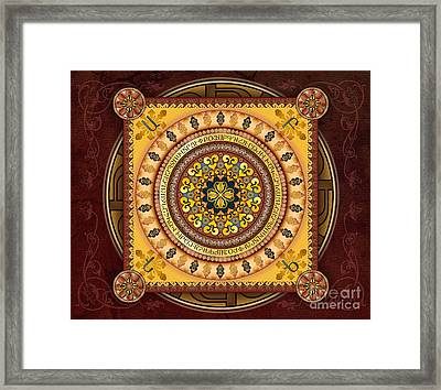 Mandala Armenia 'iypenkimta' Sp Framed Print by Bedros Awak