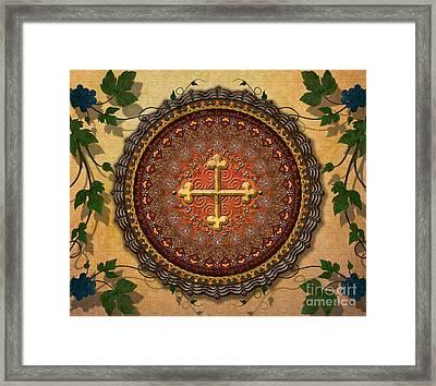 Mandala Armenian Cross Sp Framed Print by Bedros Awak