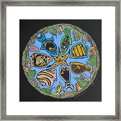 Mandala Caribe Framed Print by Diane Cutter