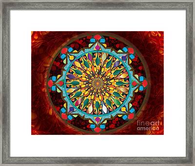 Mandala Droplets Sp Framed Print by Bedros Awak