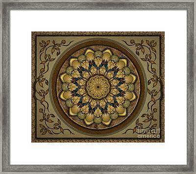 Mandala Earth Shell Sp Framed Print