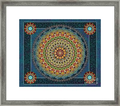 Mandala Fantasia Sp Framed Print by Bedros Awak