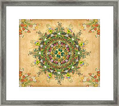 Mandala Flora Sp Framed Print by Bedros Awak
