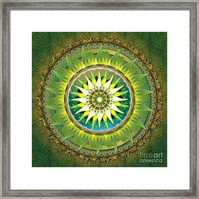 Mandala Green Framed Print
