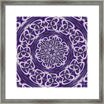 Framed Print featuring the photograph Mandala by Linda Weinstock