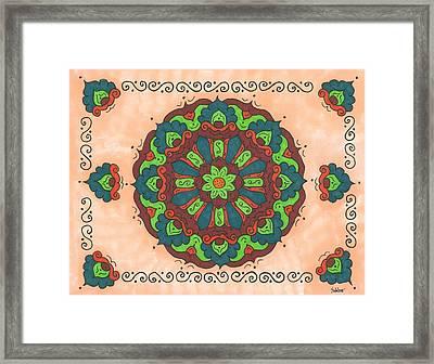 Mandala Love Framed Print by Susie WEBER