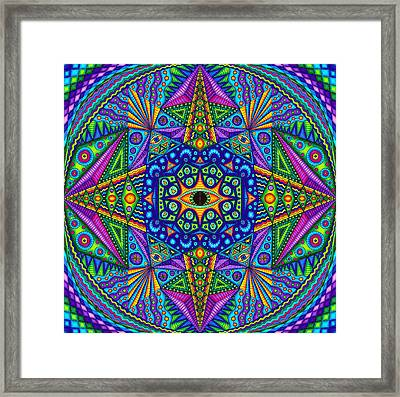 Mandala Madness Framed Print by Matt Molloy