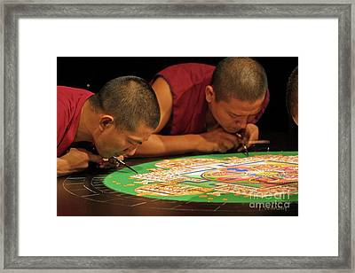 Framed Print featuring the photograph Mandala  Manifestation Sand Painting by Dodie Ulery