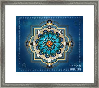 Mandala Moon Phases - Sp Framed Print