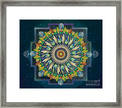 Mandala Night Wish Sp Framed Print by Bedros Awak