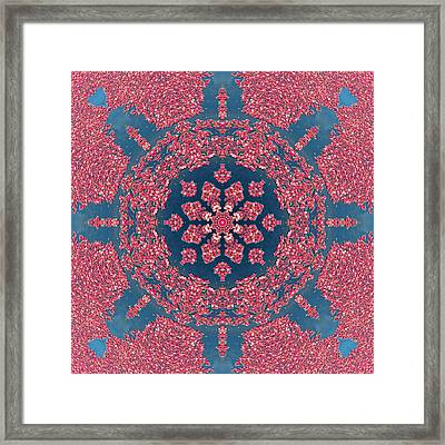 Mandala Of Cranberries Framed Print by Beth Sawickie