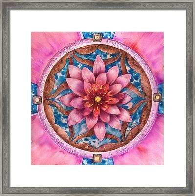 Mandala Of Health Framed Print