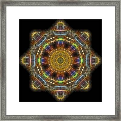 Mandala Of Light 1 Framed Print by William Horden