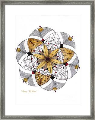Mandala Of Thanksgiving Framed Print by Nancy TeWinkel Lauren