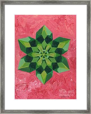 Mandala Of The Heart Framed Print