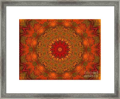 Mandala Of The Rising Sun - Spiritual Art By Giada Rossi Framed Print