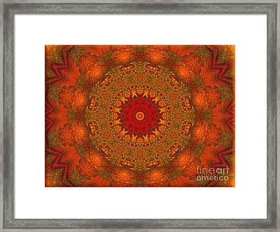Mandala Of The Rising Sun - Spiritual Art By Giada Rossi Framed Print by Giada Rossi