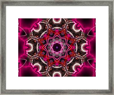 Mandala Of The Unseen Framed Print by Edward Anderson